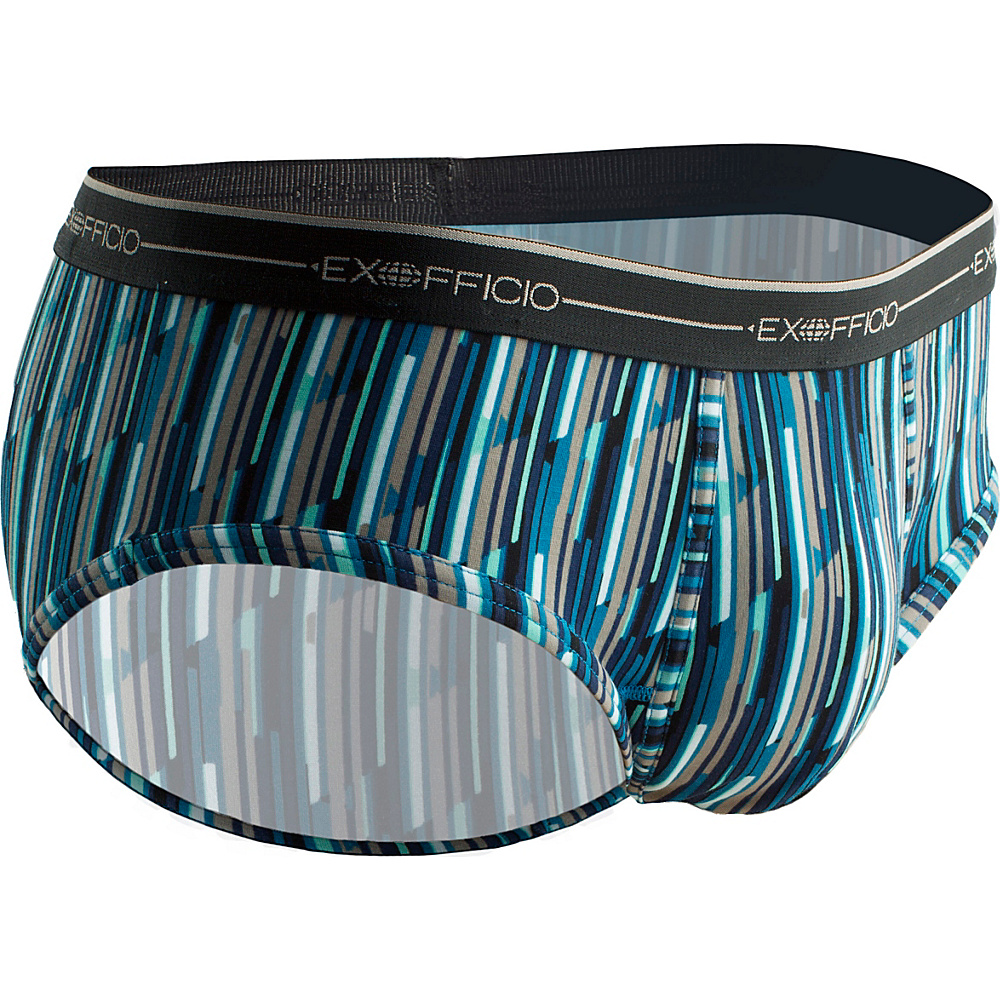 ExOfficio Mens Sol Cool Print Brief S - Navy/Diamond Stripe - ExOfficio Mens Apparel - Apparel & Footwear, Men's Apparel