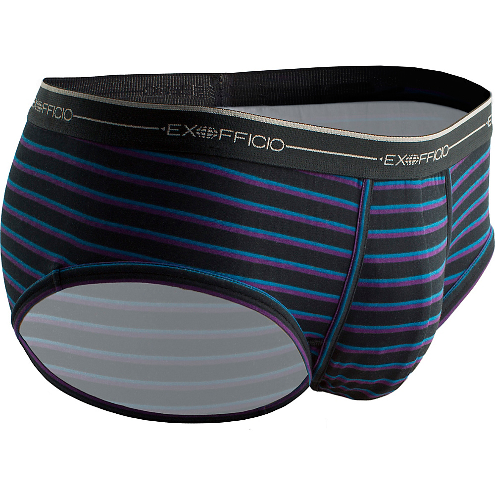 ExOfficio Mens Sol Cool Print Brief M - Black/Graphic Stripe - ExOfficio Mens Apparel - Apparel & Footwear, Men's Apparel