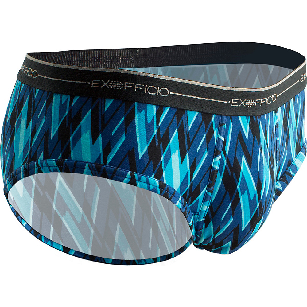 ExOfficio Mens Sol Cool Print Brief M - Atlantic/Modern Argyle - ExOfficio Mens Apparel - Apparel & Footwear, Men's Apparel