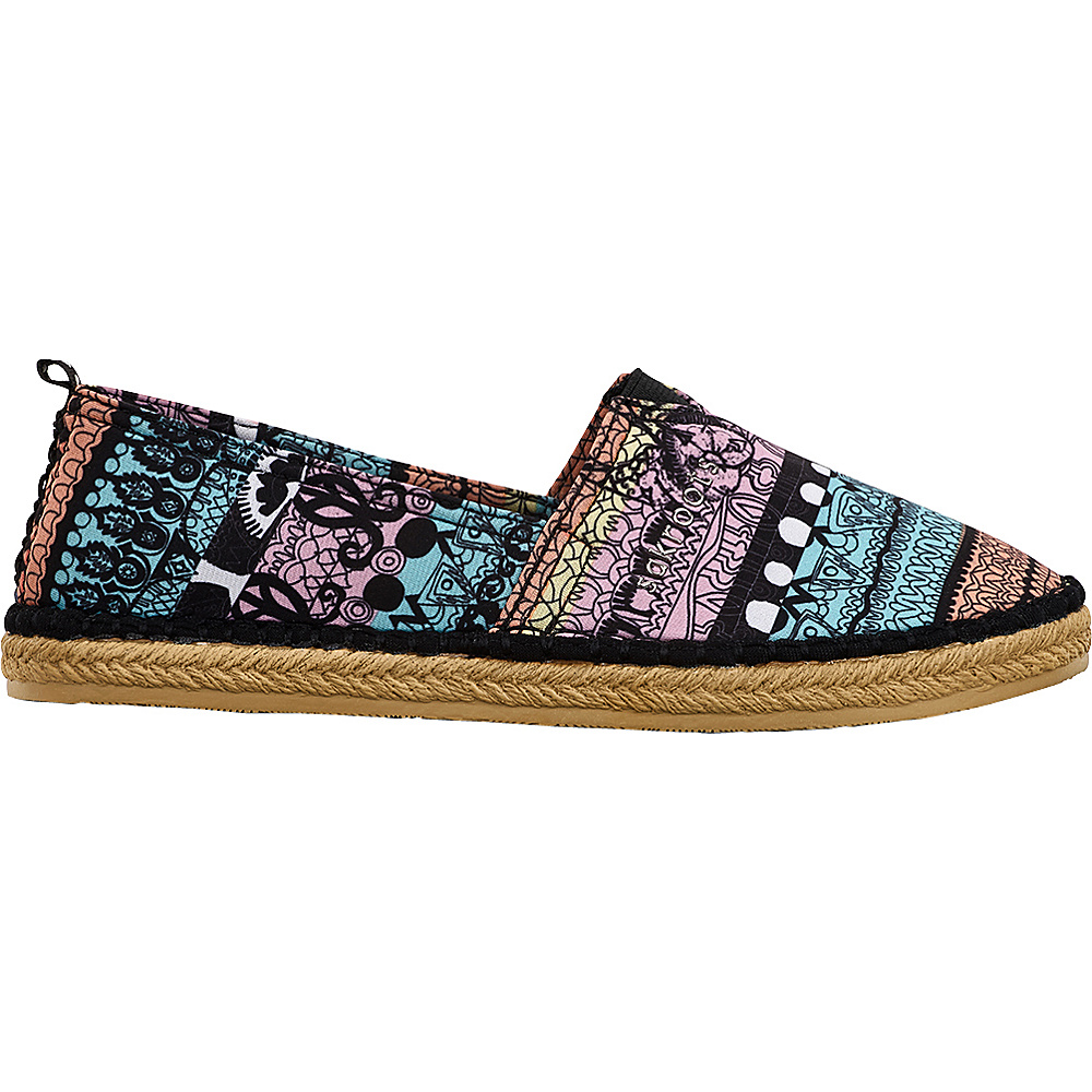 Sakroots Eton Espadrille Flat 9 - Sherbet One World - Sakroots Womens Footwear - Apparel & Footwear, Women's Footwear