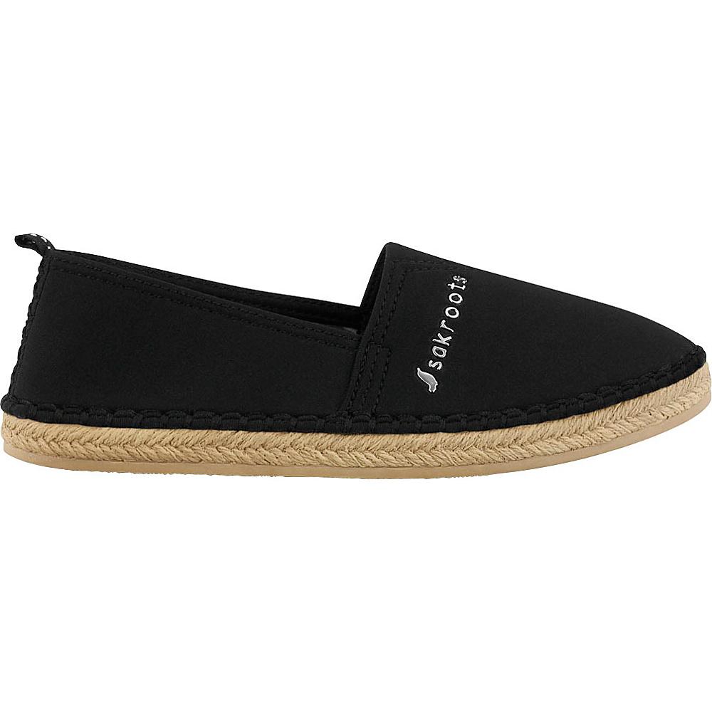 Sakroots Eton Espadrille Flat 6 - Black - Sakroots Womens Footwear - Apparel & Footwear, Women's Footwear