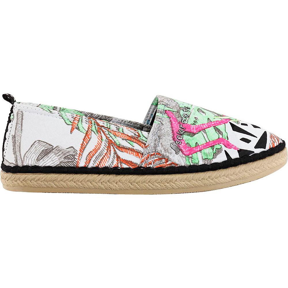 Sakroots Eton Espadrille Flat 8 - Neon Wildlife - Sakroots Womens Footwear - Apparel & Footwear, Women's Footwear