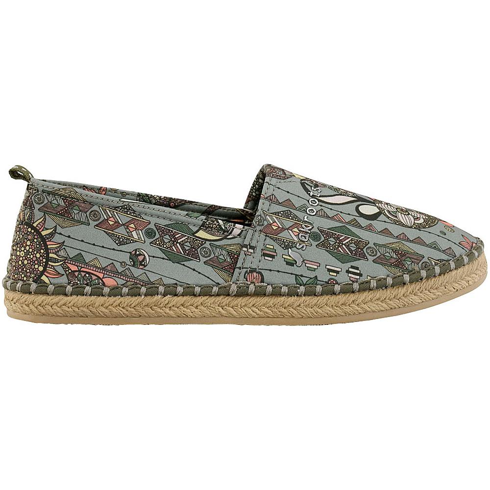 Sakroots Eton Espadrille Flat 6 - Olive Spirit Desert - Sakroots Womens Footwear - Apparel & Footwear, Women's Footwear