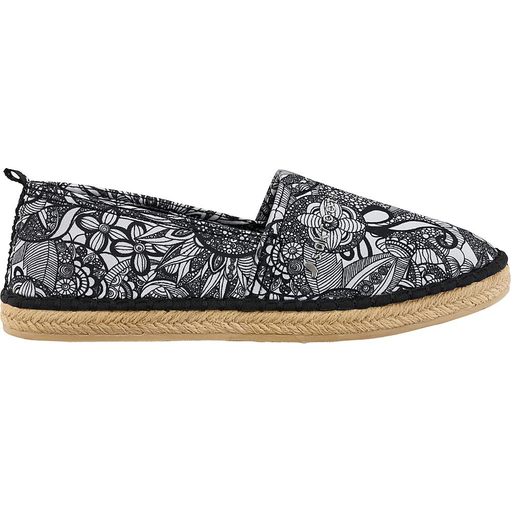 Sakroots Eton Espadrille Flat 8 - Black & White Spirit Desert - Sakroots Womens Footwear - Apparel & Footwear, Women's Footwear