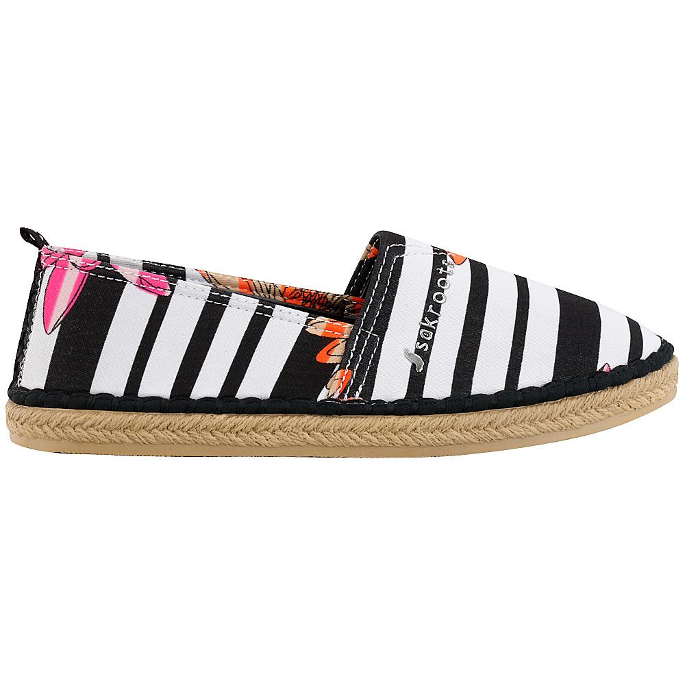 Sakroots Eton Espadrille Flat 8 - Neon Zen Flower - Sakroots Womens Footwear - Apparel & Footwear, Women's Footwear