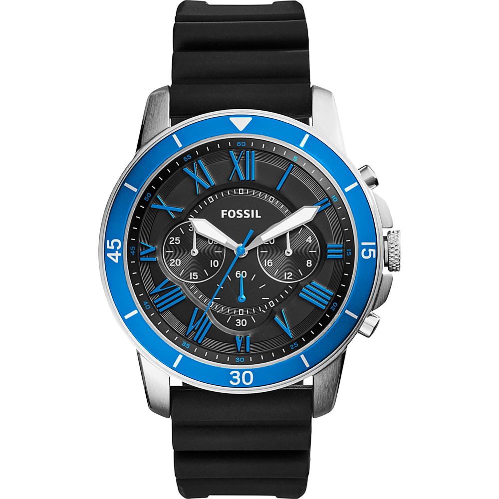 Fossil Grant Sport Chronograph Watch Black - Fossil Watches - Fashion Accessories, Watches