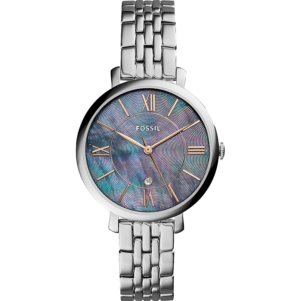 Fossil Jacqueline Three-Hand Date Watch Silver - Fossil Watches - Fashion Accessories, Watches