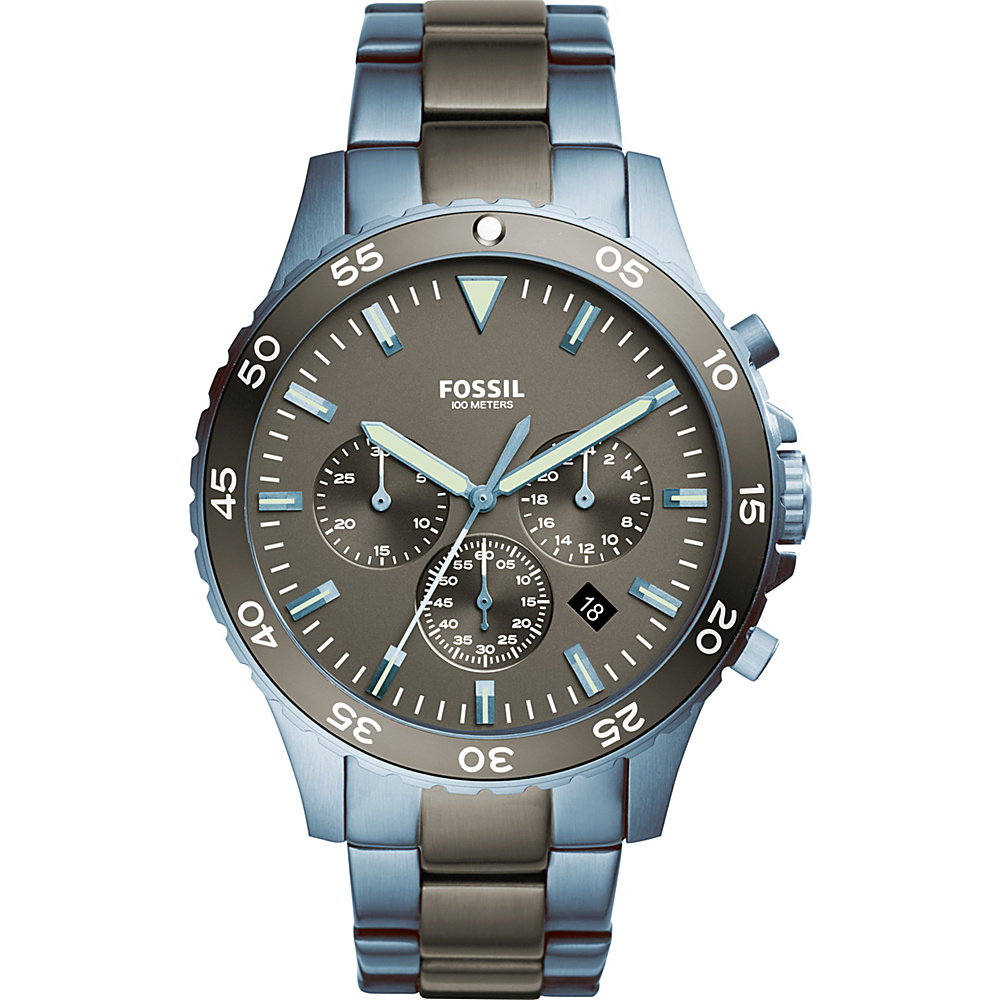 Fossil Crewmaster Sport Chronograph Watch Blue - Fossil Watches - Fashion Accessories, Watches