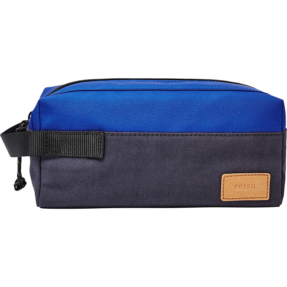 Fossil Single Zip Shave Kit Blue - Fossil Toiletry Kits - Travel Accessories, Toiletry Kits