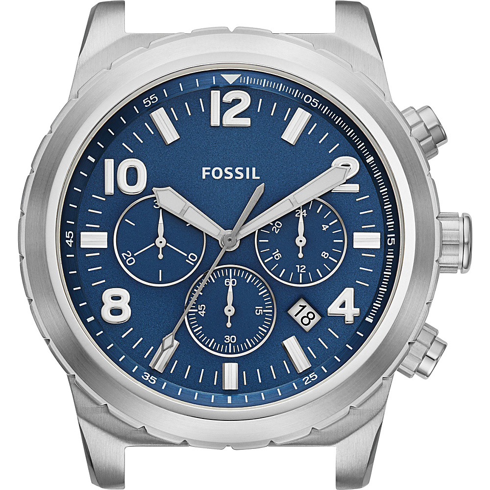 Fossil Oakman Chronograph Dial Silver/Blue - Fossil Watches - Fashion Accessories, Watches