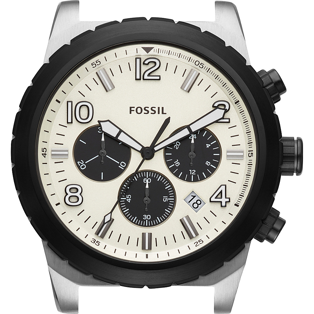 Fossil Oakman Chronograph Dial Silver/Black - Fossil Watches - Fashion Accessories, Watches