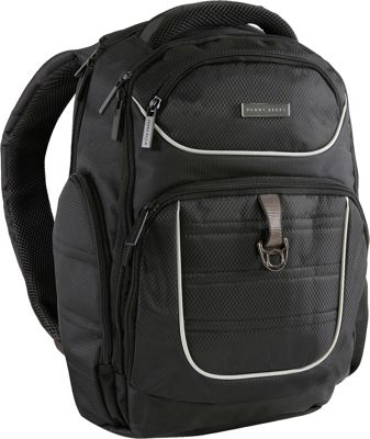 Perry Ellis Business Laptop Backpack with Tablet Pocket Black - Perry Ellis Laptop Backpacks