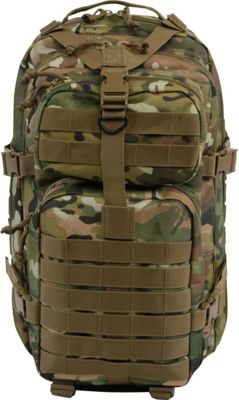 Highland Tactical Vantage Tactical Backpack with All-Around Compression Straps Brown Camo - Highland Tactical Tactical