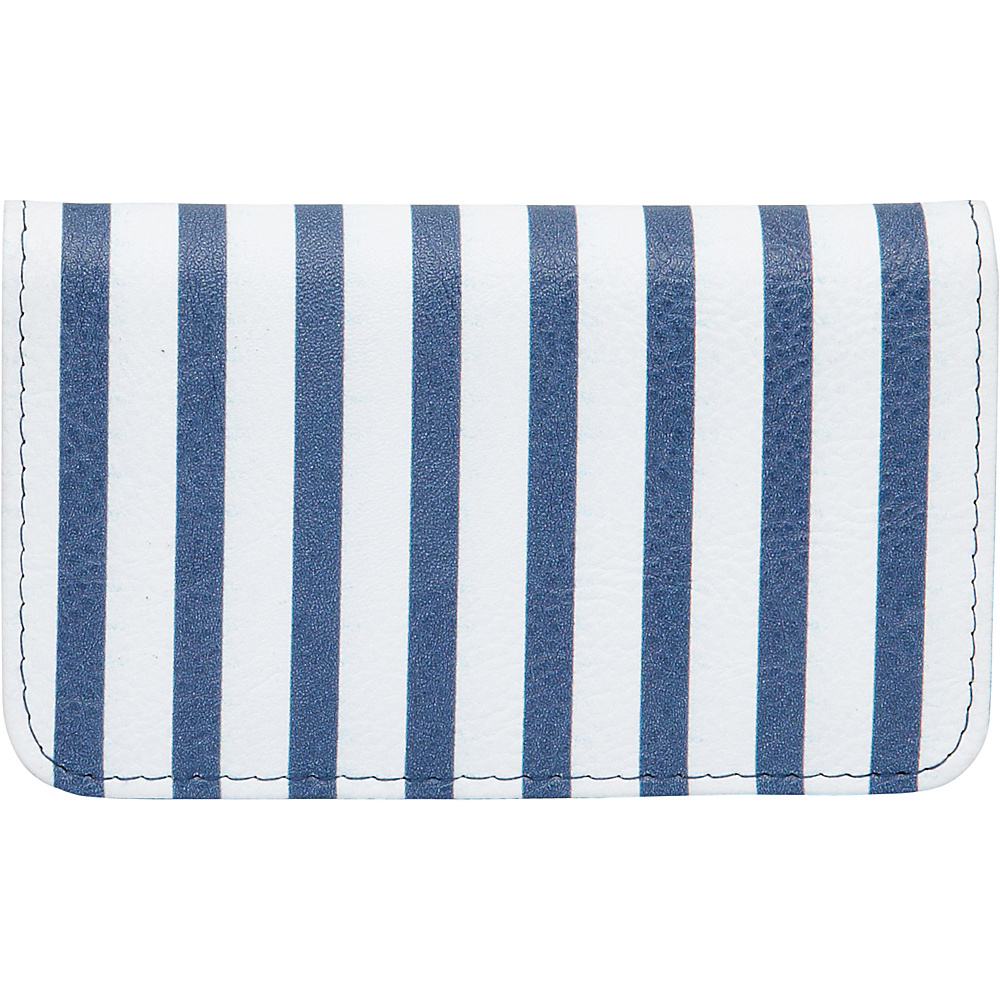 Buxton Americana Pik-Me-Up Snap Card Case Blue Stripe - Buxton Womens Wallets - Women's SLG, Women's Wallets