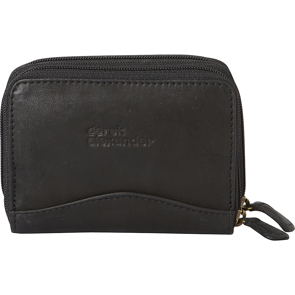 Derek Alexander Accordion Style Card/Coin Case Black - Derek Alexander Womens Wallets - Women's SLG, Women's Wallets