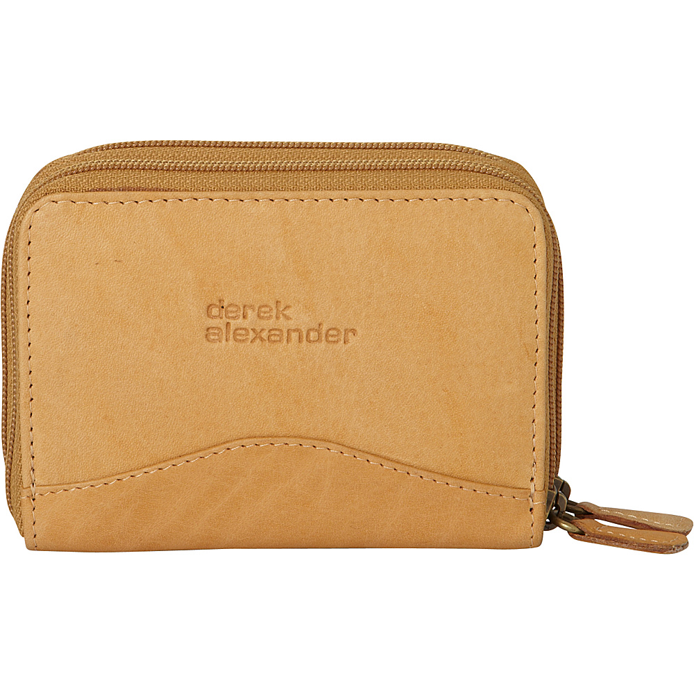 Derek Alexander Accordion Style Card/Coin Case Tan - Derek Alexander Womens Wallets - Women's SLG, Women's Wallets