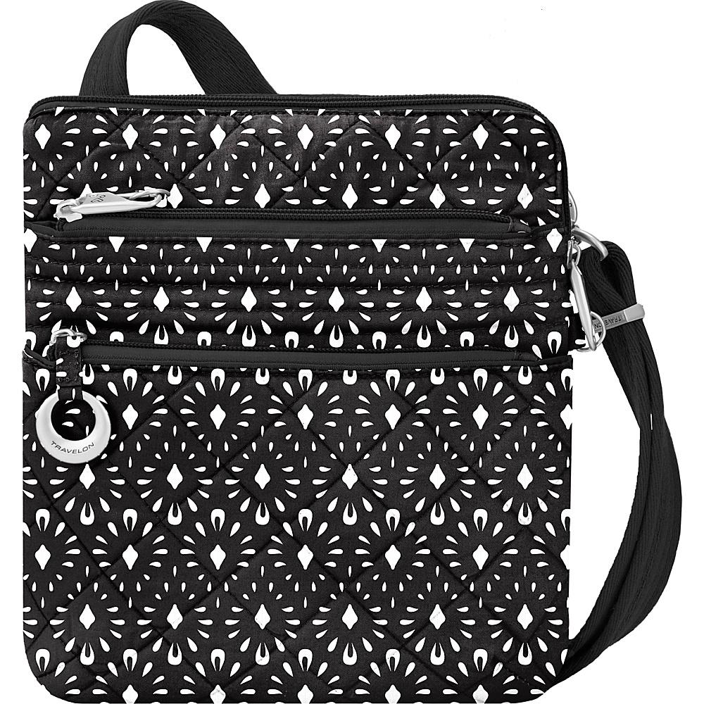 Travelon Anti-Theft Boho Slim Bag Geo Shell/Plum Interior - Travelon Leather Handbags - Handbags, Leather Handbags