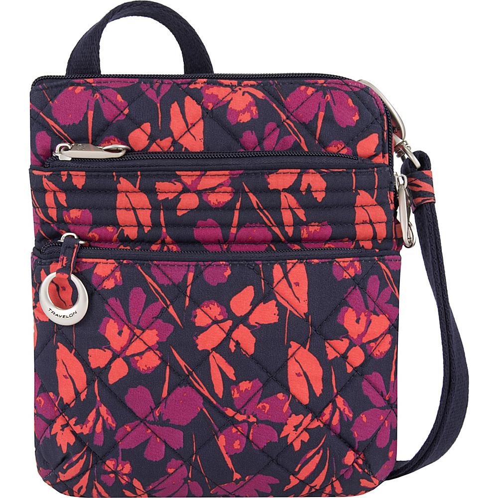 Travelon Anti-Theft Boho Slim Bag Painted Floral - Travelon Fabric Handbags - Handbags, Fabric Handbags