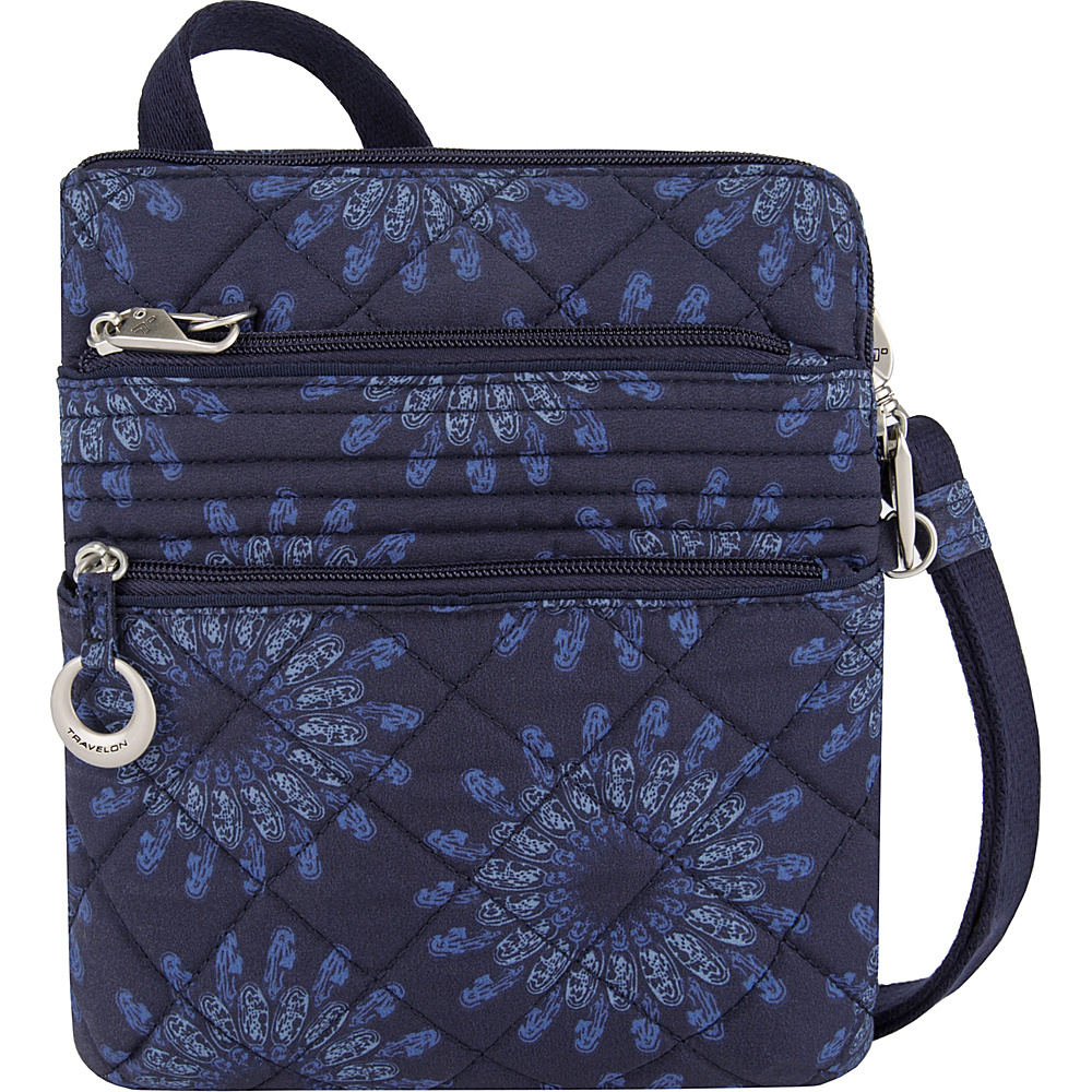 Travelon Anti-Theft Boho Slim Bag Geo Sunflower - Travelon Fabric Handbags - Handbags, Fabric Handbags
