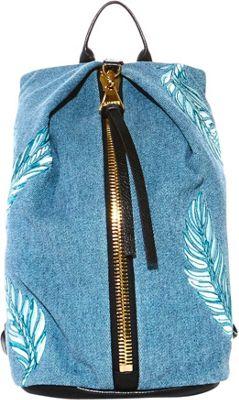 Aimee Kestenberg Handbags Havana Backpack Denim Leather - Aimee Kestenberg Handbags Leather Handbags