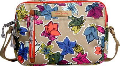 Vera Bradley RFID On the Horizon Crossbody Falling Flowers Neutral - Vera Bradley Fabric Handbags