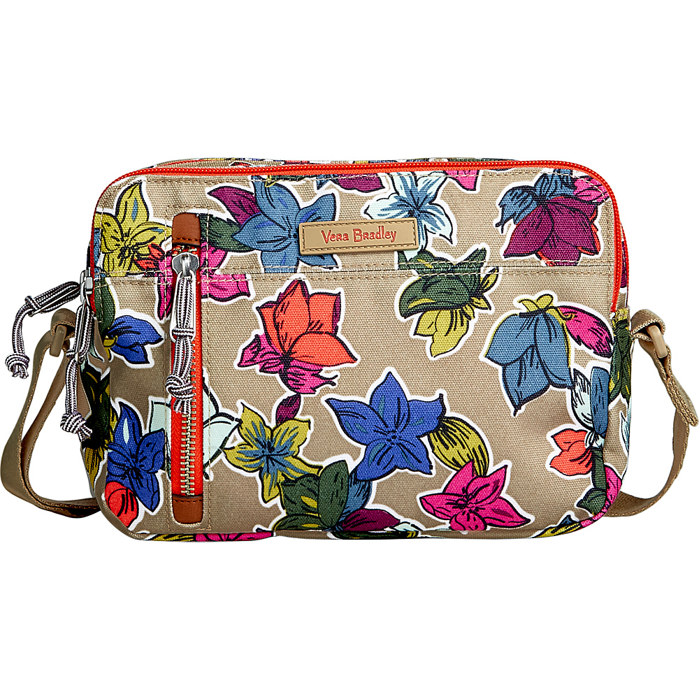 Vera Bradley RFID On the Horizon Crossbody Falling Flowers Neutral - Vera Bradley Fabric Handbags - Handbags, Fabric Handbags