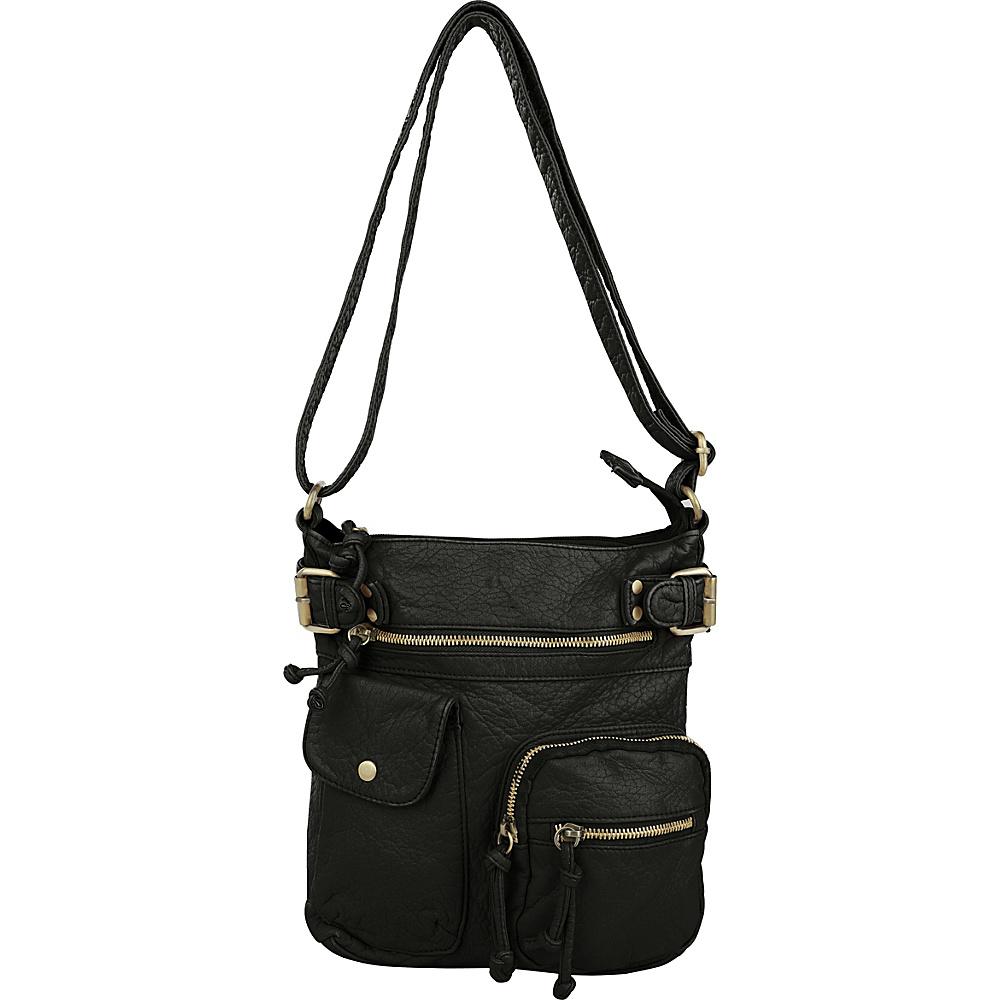 MKF Collection by Mia K. Farrow Vintage Stiella Multi-Pocket Crossbody Black - MKF Collection by Mia K. Farrow Manmade Handbags - Handbags, Manmade Handbags