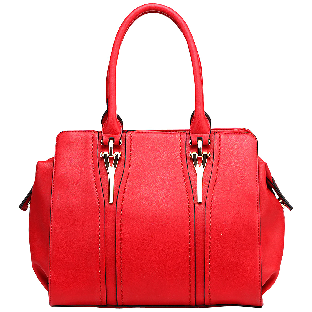 MKF Collection Gussie Satchel with Removable Shoulder Strap Red - MKF Collection Manmade Handbags - Handbags, Manmade Handbags