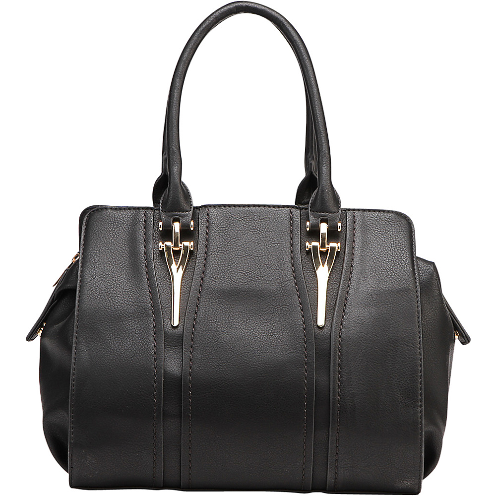 MKF Collection Gussie Satchel with Removable Shoulder Strap Black - MKF Collection Manmade Handbags - Handbags, Manmade Handbags