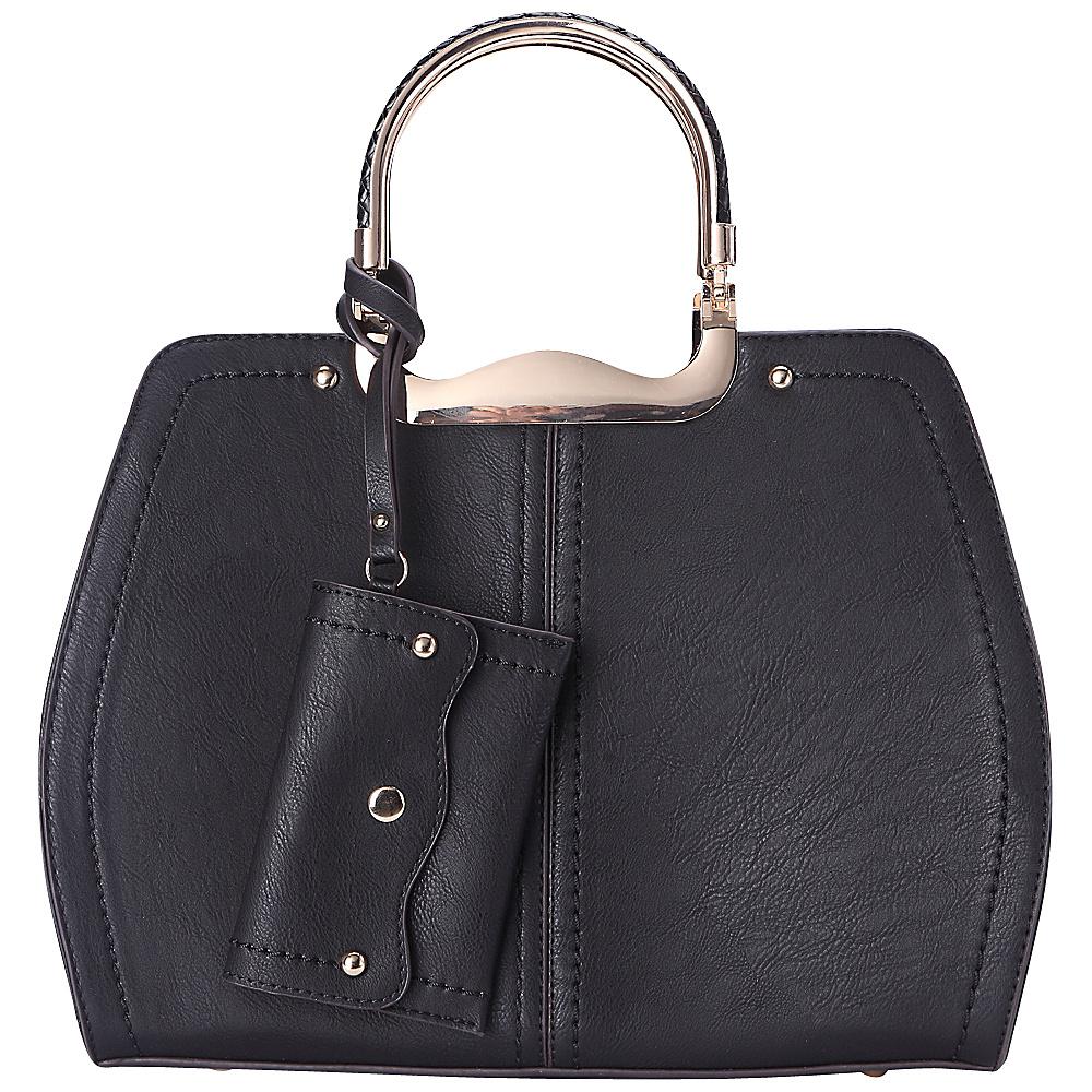 MKF Collection by Mia K. Farrow Aaliyah Handbag Black - MKF Collection by Mia K. Farrow Manmade Handbags - Handbags, Manmade Handbags