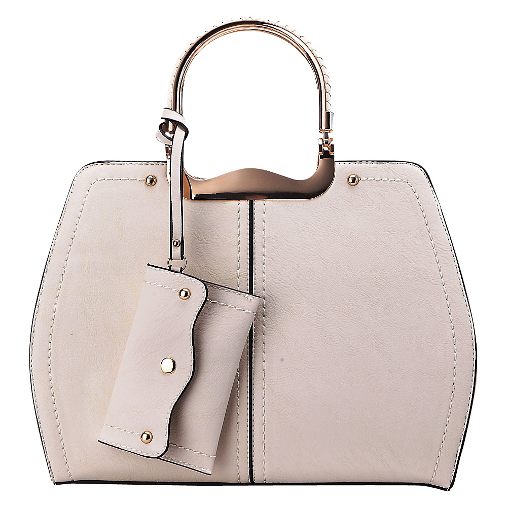 MKF Collection Aaliyah Handbag Beige - MKF Collection Manmade Handbags - Handbags, Manmade Handbags
