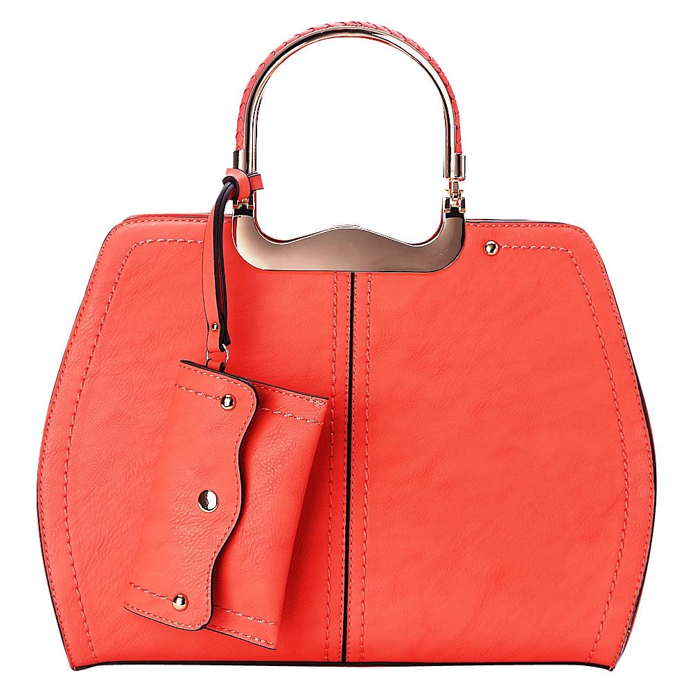 MKF Collection by Mia K. Farrow Aaliyah Handbag Coral - MKF Collection by Mia K. Farrow Manmade Handbags - Handbags, Manmade Handbags