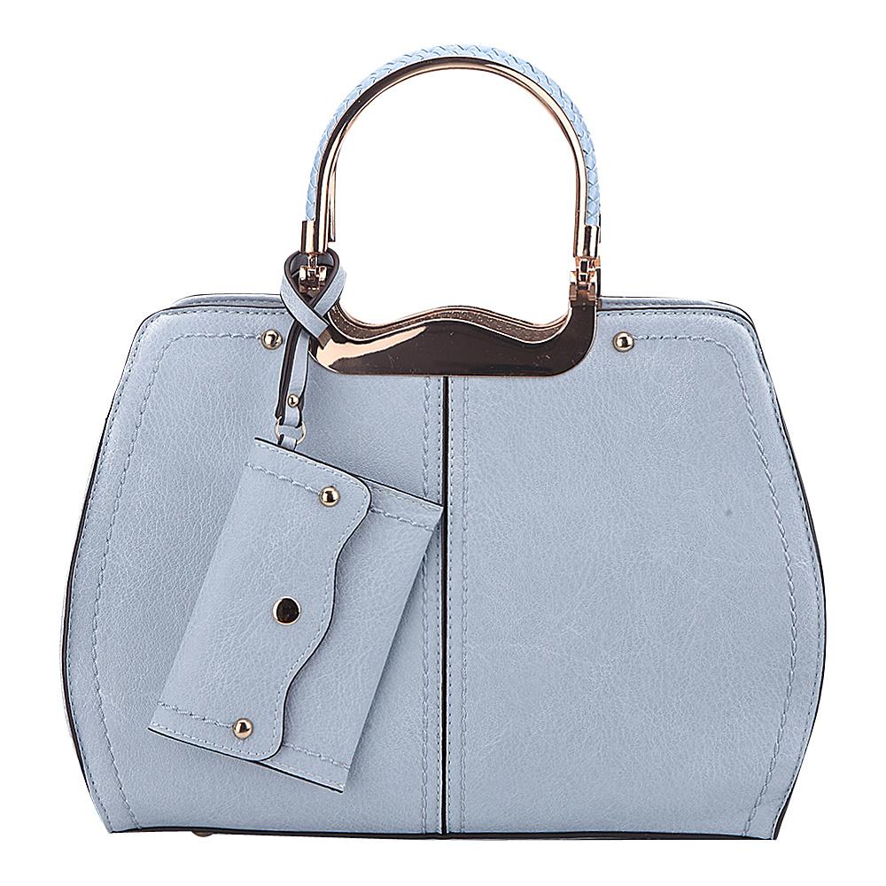 MKF Collection by Mia K. Farrow Aaliyah Handbag Light Blue - MKF Collection by Mia K. Farrow Manmade Handbags - Handbags, Manmade Handbags