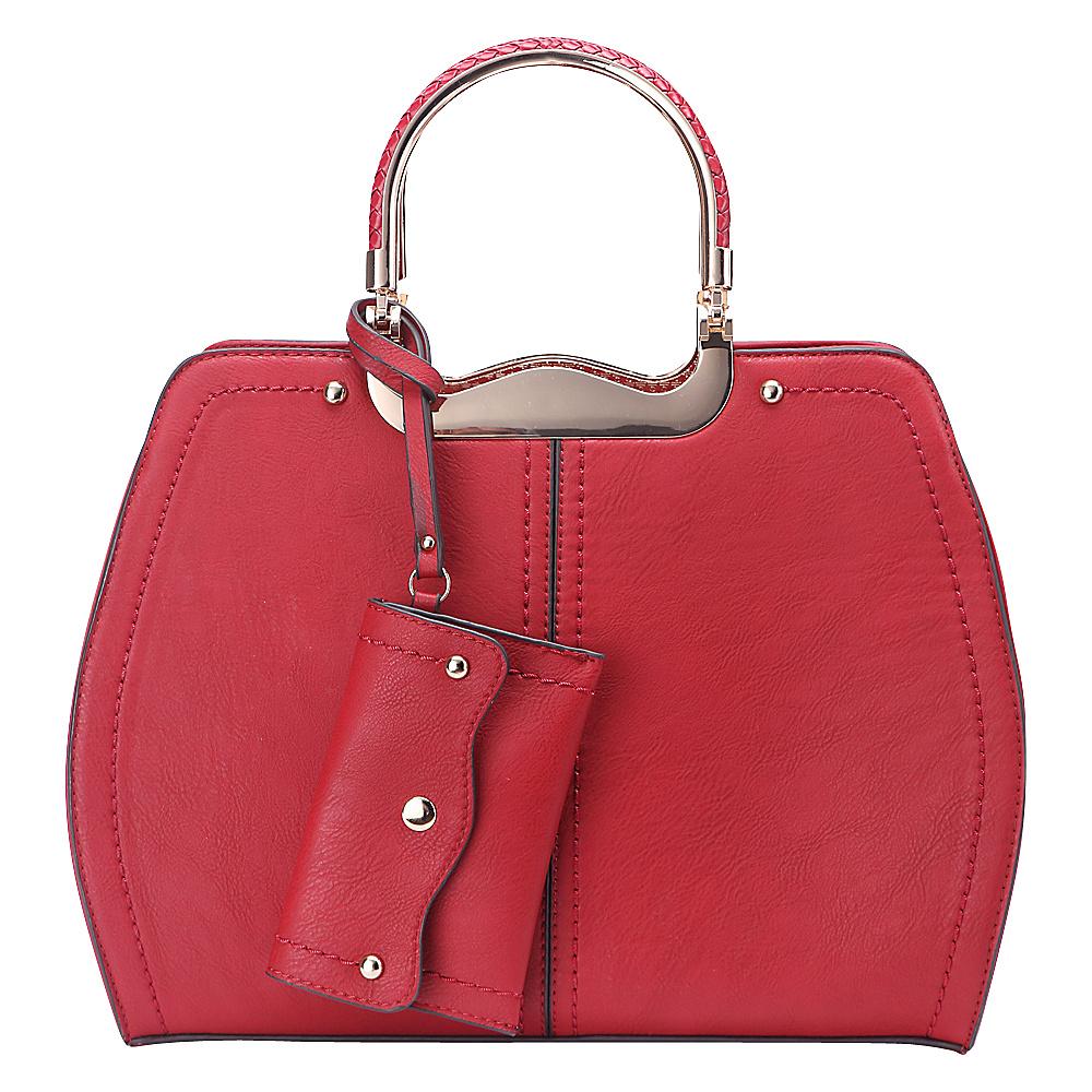 MKF Collection by Mia K. Farrow Aaliyah Handbag Red - MKF Collection by Mia K. Farrow Manmade Handbags - Handbags, Manmade Handbags