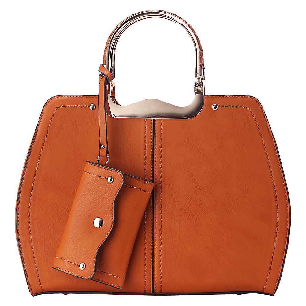 MKF Collection by Mia K. Farrow Aaliyah Handbag Tan - MKF Collection by Mia K. Farrow Manmade Handbags - Handbags, Manmade Handbags
