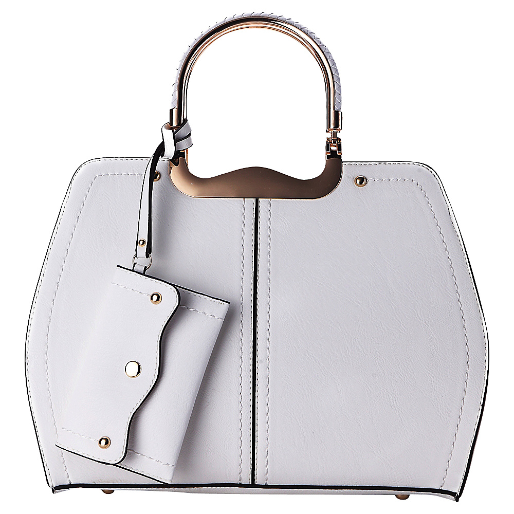 MKF Collection by Mia K. Farrow Aaliyah Handbag White - MKF Collection by Mia K. Farrow Manmade Handbags - Handbags, Manmade Handbags