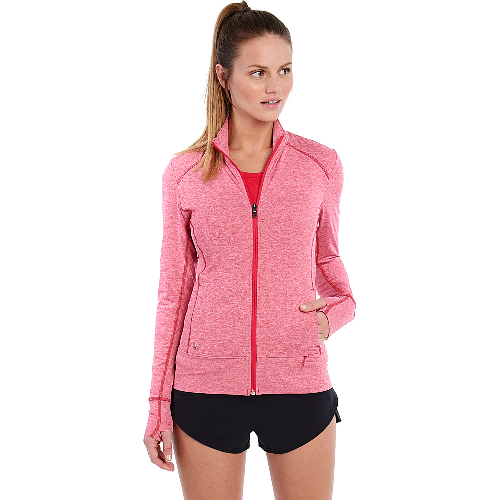 Lole Essential Up Cardigan XS - Tropical Rose Heather - Lole Womens Apparel - Apparel & Footwear, Women's Apparel