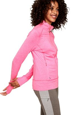 Lole Essential Up Cardigan L - Hot Pink Heather - Lole Women's Apparel