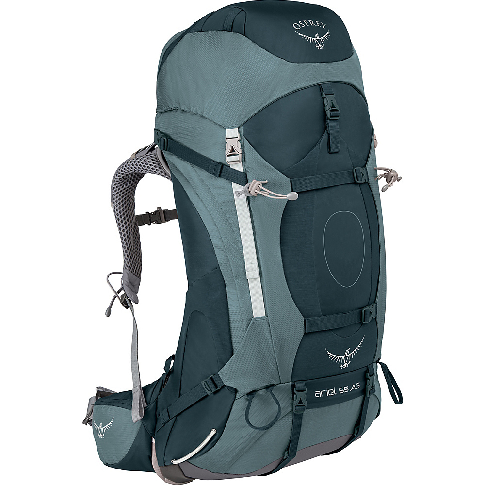 Osprey Womens Ariel AG 55 Hiking Pack Boothbay Grey – WM - Osprey Backpacking Packs - Outdoor, Backpacking Packs
