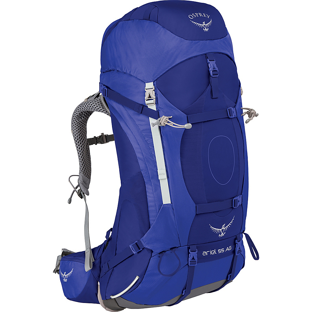 Osprey Womens Ariel AG 55 Hiking Pack Tidal Blue – WM - Osprey Backpacking Packs - Outdoor, Backpacking Packs
