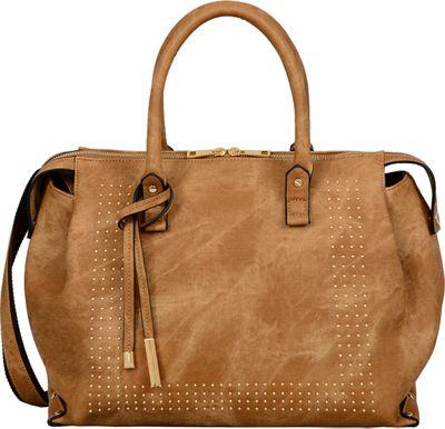 Mellow World Edith Satchel Camel - Mellow World Manmade Handbags