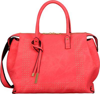 Mellow World Edith Satchel Watermelon - Mellow World Manmade Handbags