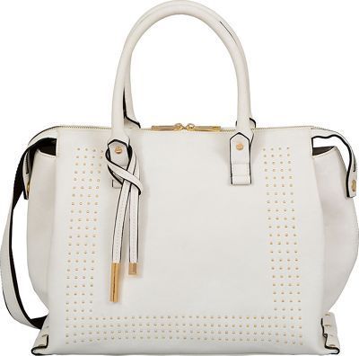 Mellow World Edith Satchel White - Mellow World Manmade Handbags