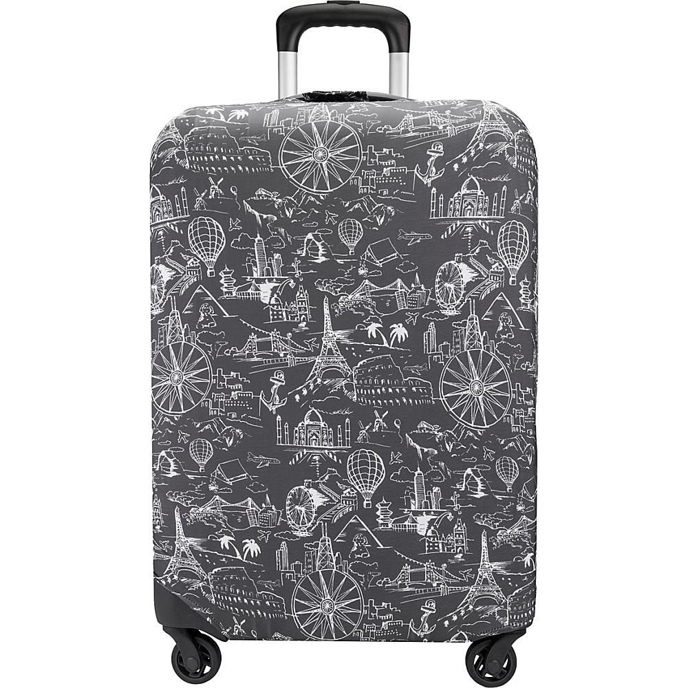 Travelon Luggage Cover Medium Black Print - Travelon Luggage Accessories - Travel Accessories, Luggage Accessories