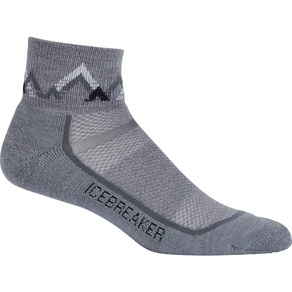 Icebreaker Mens Multisport Light Mini Sock S - Twister Heather/Black - Icebreaker Legwear/Socks - Fashion Accessories, Legwear/Socks