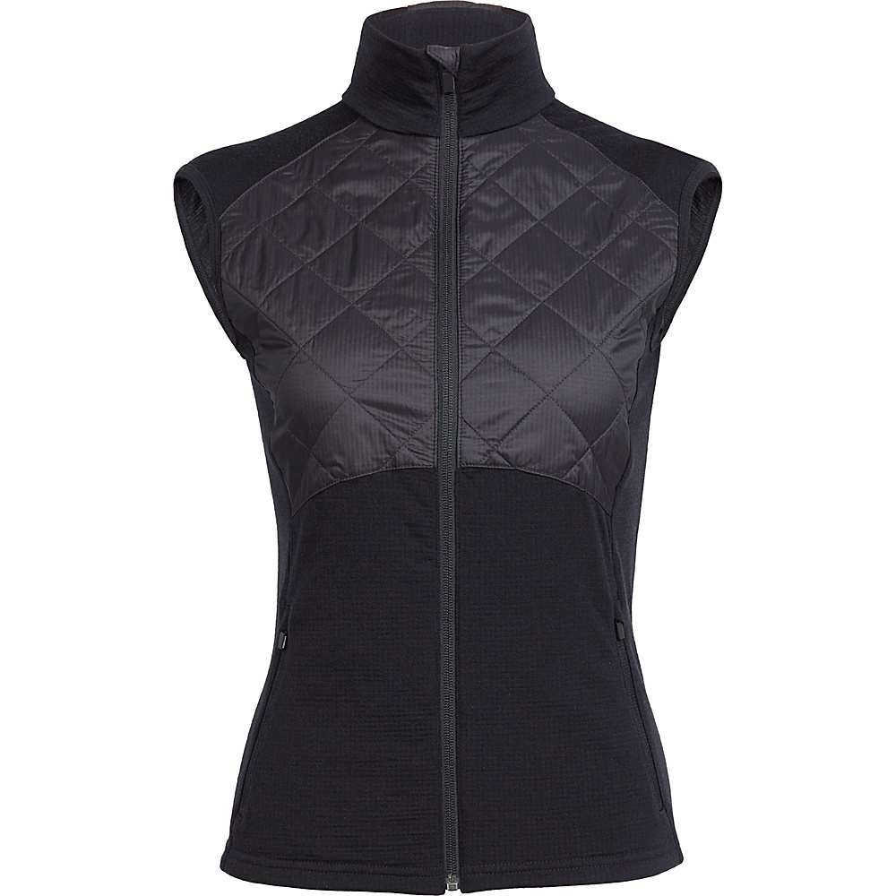 Icebreaker Womens Ellipse Vest M - Black - Icebreaker Womens Apparel - Apparel & Footwear, Women's Apparel