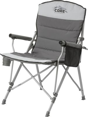 Core Equipment Padded Hard Arm Chair Grey - Core Equipment Outdoor Accessories