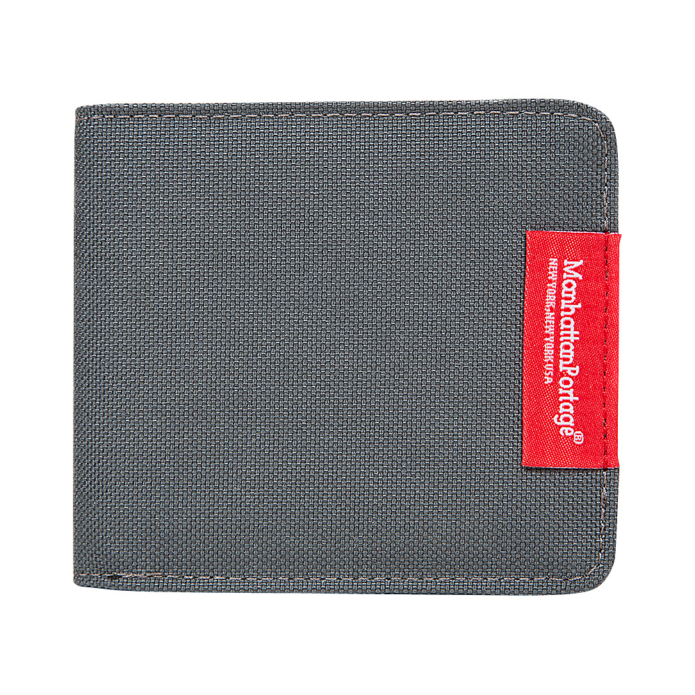 Manhattan Portage William Wallet Gray - Manhattan Portage Mens Wallets - Work Bags & Briefcases, Men's Wallets