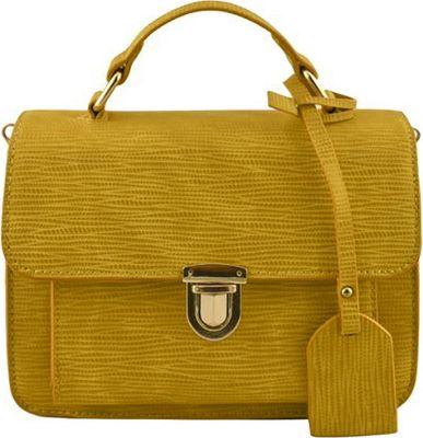 SW Global Alice Structure Satchel Yellow - SW Global Manmade Handbags