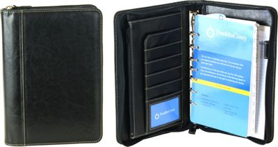 Franklin Covey Classic Size Secure Zip-Around 7-Ring Binder / Planner with Business Organizer Black - Franklin Covey Business Accessories